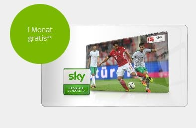 Sky Angebot für Bestandskunden: Fußball-Bundesliga-Paket ab 10 Euro + 1 Monat gratis