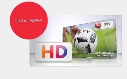 Sky Angebot für Bestandskunden: Premium HD für 1 Jahr zum halben Preis - ab 5 Euro pro Monat