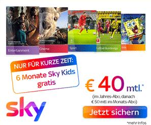 Sky Komplett Angebot inkl. 6 Monate Sky Kids gratis