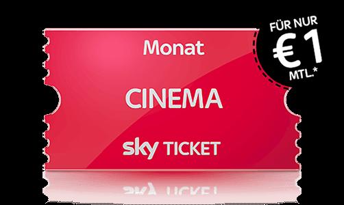 Sky Cinema Ticket Angebot nur 1 €