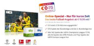 Sky Abo ohne Aktivierungsgebühr (statt 59 €)