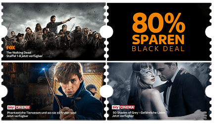 Sky Ticket Black Deal: Sky Entertainment & Cinema Ticket 2 Monate für einmalig 9,99 €