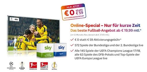 Fußball Bundesliga Angebot für 19,99 Euro