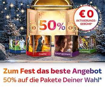 Sky Weihnachtsangebot - 0 Euro Aktivierungsgebühr