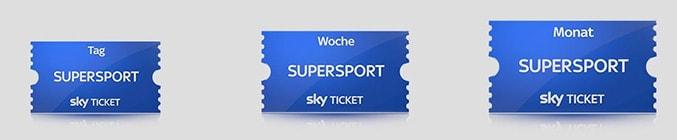 Sky Supersport Tages-, Wochen- oder Monatsticket