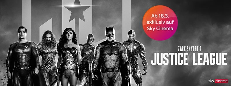 Zack Snyder's Justice League: ab 18.03. exklusiv auf Sky & Sky Ticket