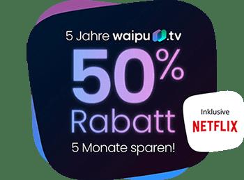 waipu.tv 50% Rabatt Aktion