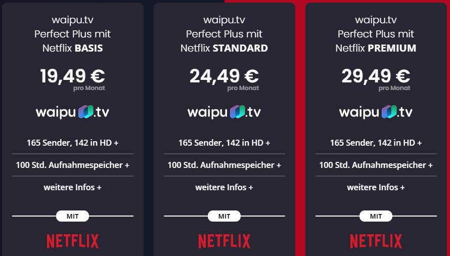 waipu.tv Netflix Angebot